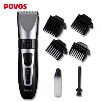 POVOS Waterproof LED Show Rechargeable Electric Hair Clipper HairTrimmer With Clean Brush Professional Hair Styling Tools PW231 -intl