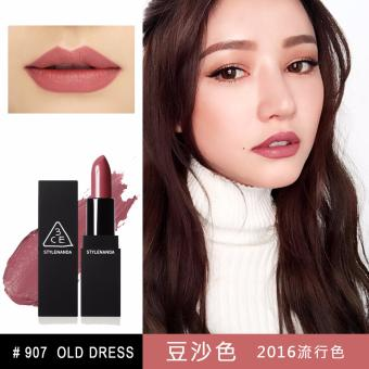 Son lì 3CE Matte Lip Color Lipstick #907 Old Dress (Hồng Đất)