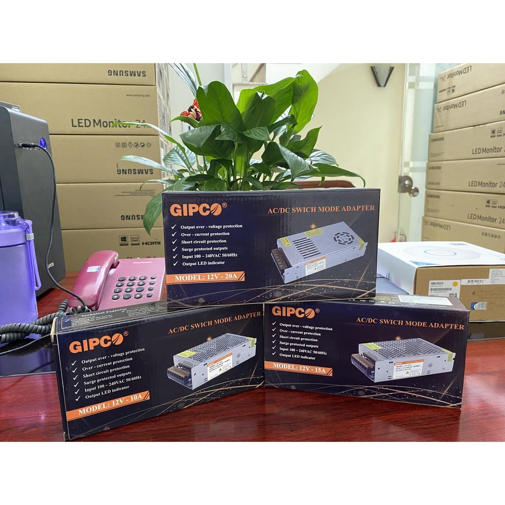Bộ Chuyển Đổi Nguồn Điện Tập Trung GIPCO 220VAC/12VDC-10/15/20A Sử Dụng Cho Camera Đèn Led