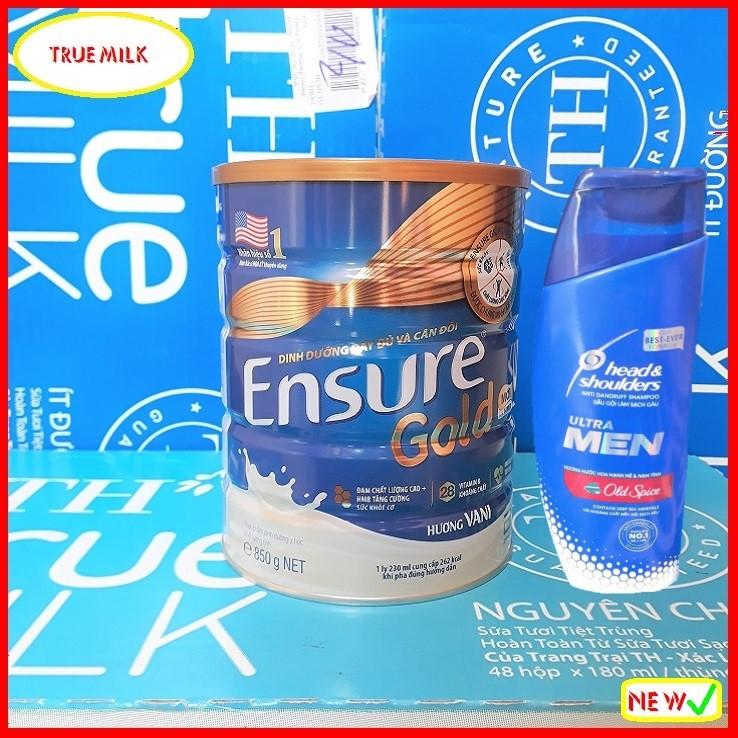 Sữa bột Ensure Gold 850g Vani (Tặng dầu gội hương Nước Hoa Head & Shoulder) - Ensure Gold - Ensure Vani - Gold 850 - Ensure Vani - Lon sữa bột ensure gold - ensure gold hương vani - Ensure gold HMB