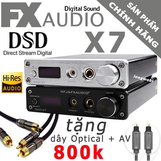 FX AUDIO X7 - ĐẦU GIẢI MÃ DAC 384KHZ/32BIT DSD256 - TẶNG DÂY MONSTER & EMK