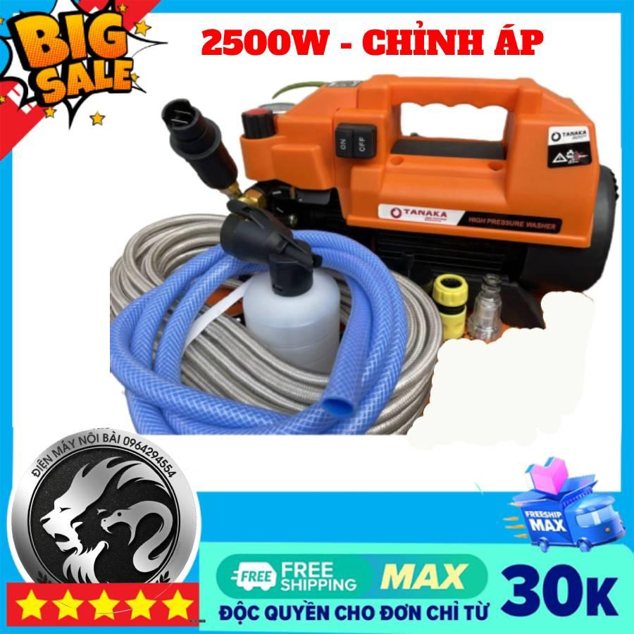 Máy rửa xe gia đình may rua xe công suất mạnh 2500W may rua xe mi ni máy rửa xe áp lực cao TANAKA dễ dàng sử dụng ống bơm nước 15m vòi bơm áp lực cao