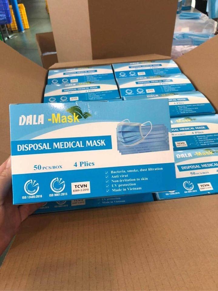Khẩu trang y tế 4 lớp dày - Khẩu trang y tế chính hãng - Khẩu Trang Y Tế Chất Lượng