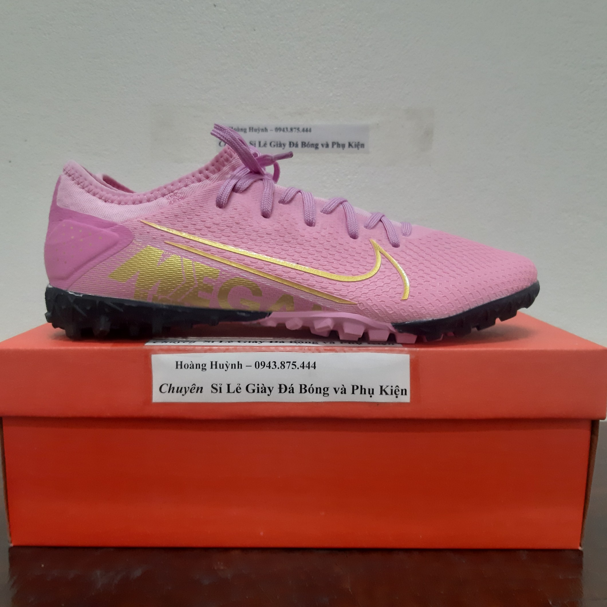 Giày đá bóng TQ Nike Vapor 13 Pro TF Hồng Phấn