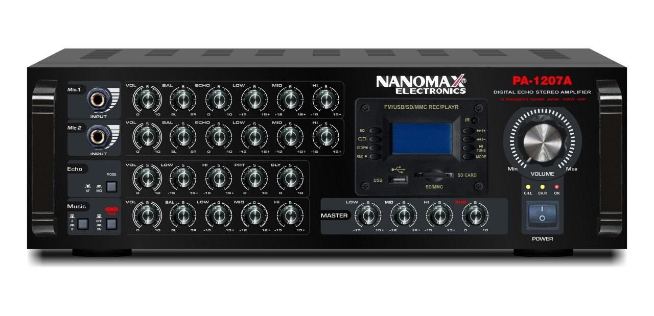 [HCM]Amply karaoke Nanomax PA-1207A