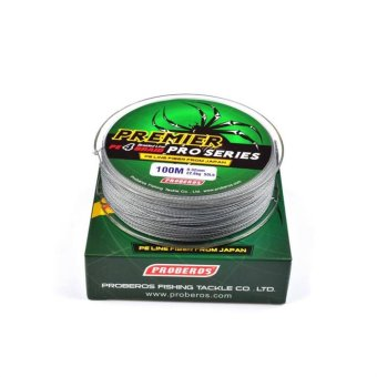 100M Super Strong PE Braided Fishing Line 15LB Gray - intl