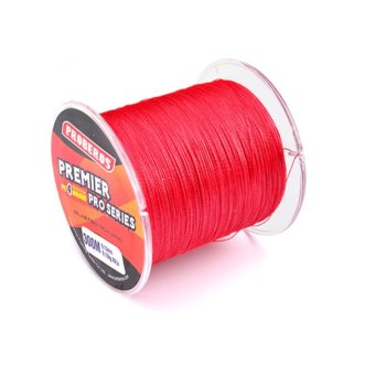 300M Durable Fishing Line PE Four Strand Braid Fish-line Red1.5/20LB - intl