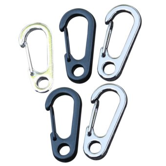 5PCS D-type Alloy Key Ring Mini Spring Buckle EDC Items Tool RandomColor (Intl)