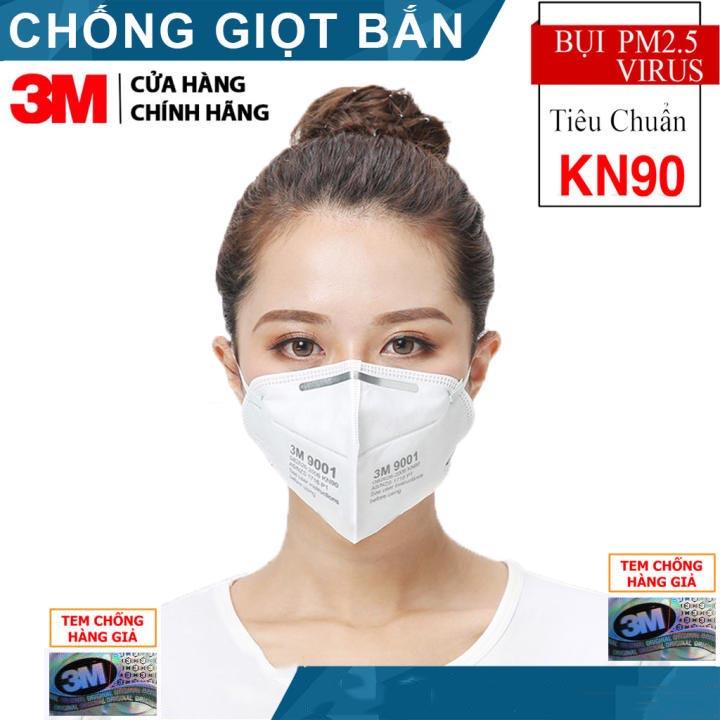 Khẩu trang 3m 9001 - Khẩu trang 3d mask chống bụi, phòng độc, Khẩu trang 3 M chính hãng