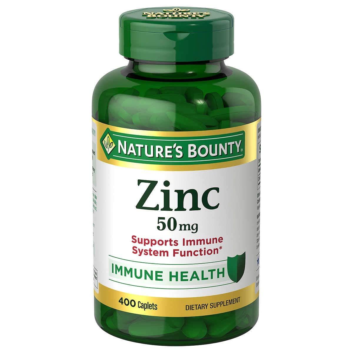 Nature's Bounty Zinc 50mg - Viên uống bổ sung Kẽm - 400 Viên [HÀNG USA]