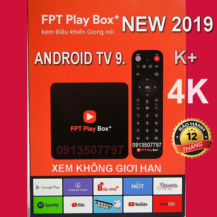 FPT Play Box 2019 Android TV 9 + 4K  Model S400 Phiên Bản Android TV 9 có khiển tìm kiếm giọng nói