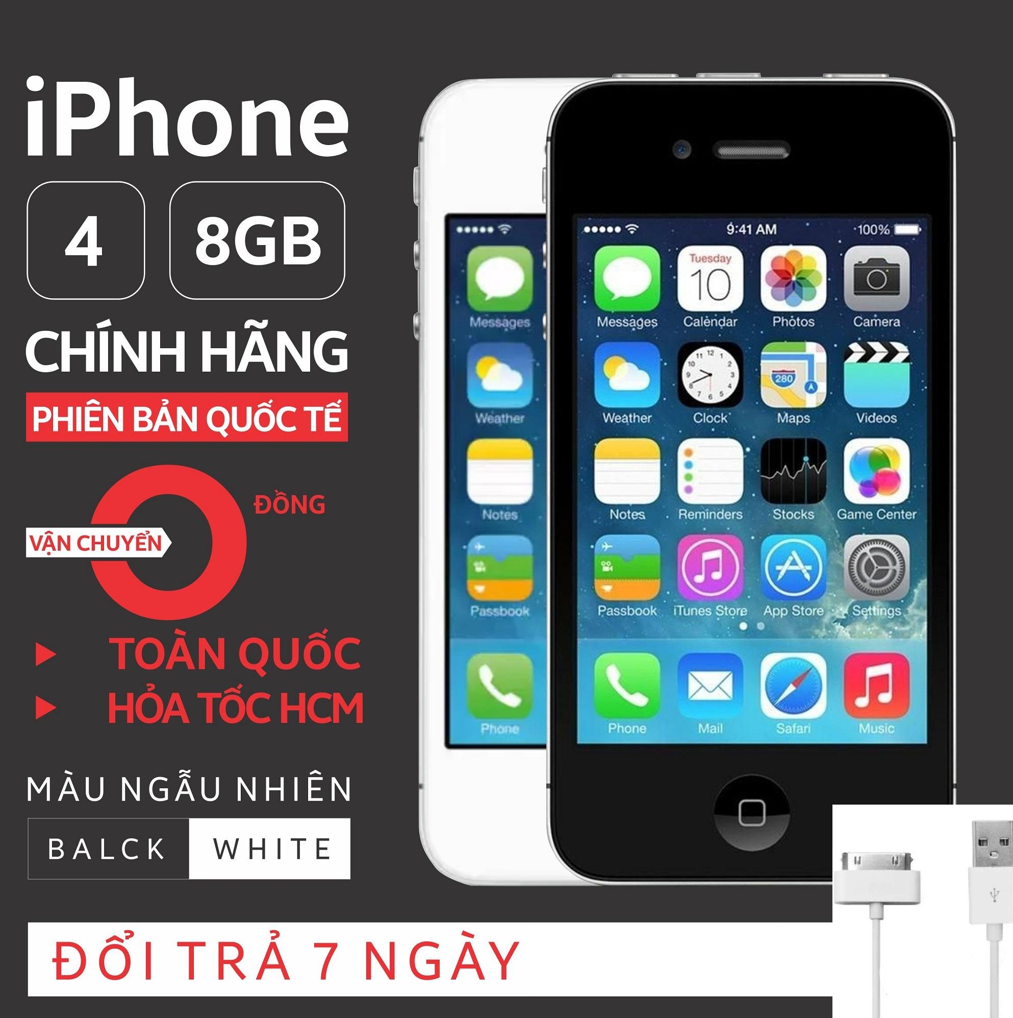 Điện thoại xịn iphone4-16gb cảm ứng giá rẻ pin trâu siêu nhỏ