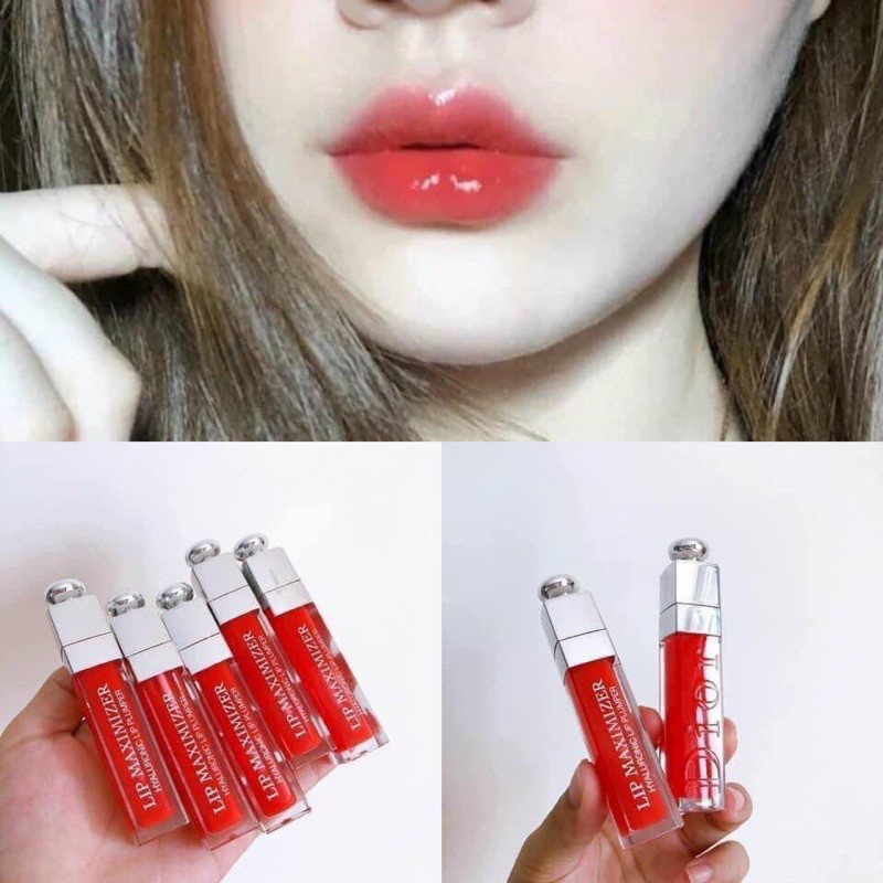 [Hàng Chuẩn Auth] Son Dưỡng Dior Addict Lip Maximizer Fullsize Unbox Date Xa - Son Dưỡng Thần Thánh Dior Màu 015 Hồng đỏ