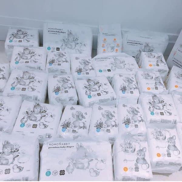 Bỉm quần MomoRabbit nội dịa Hàn quốc các size L28/XL22/XXL18