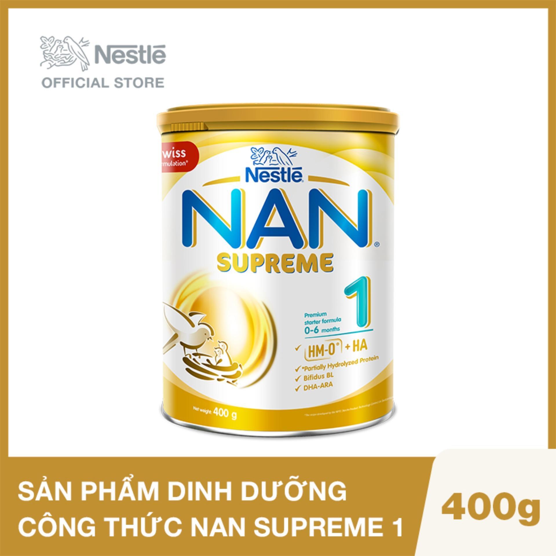 Sản phẩm dinh dưỡng công thức NAN SUPREME 1 - Lon 400g