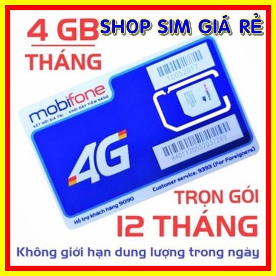 Sim 4G Mobifone trọn gói 1 năm không nạp tiền MDT250A (4GB/Tháng) - Sim 4G Mobi - Shop Sim Giá Rẻ