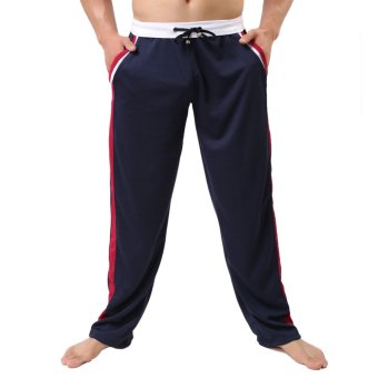 Men's Running Training Sweat Pants (Blue) - INTL