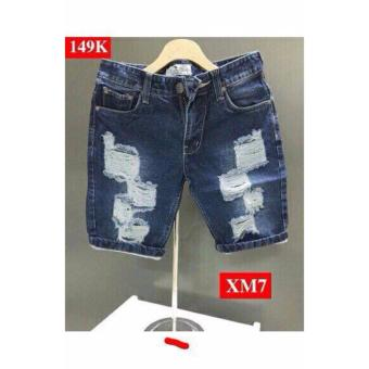 Quần short jean rách nam LyLyFashion