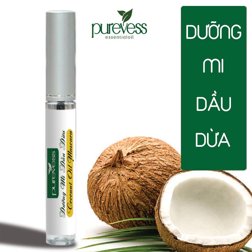 Dưỡng Mi Mascara Dầu Dừa PUREVESS Giúp mi dài và dày hơn 8ml