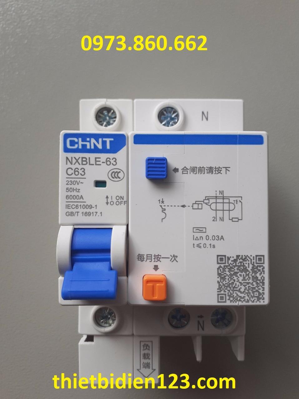 aptomat chống rò -  át chống giật 1P+N 16A~63A