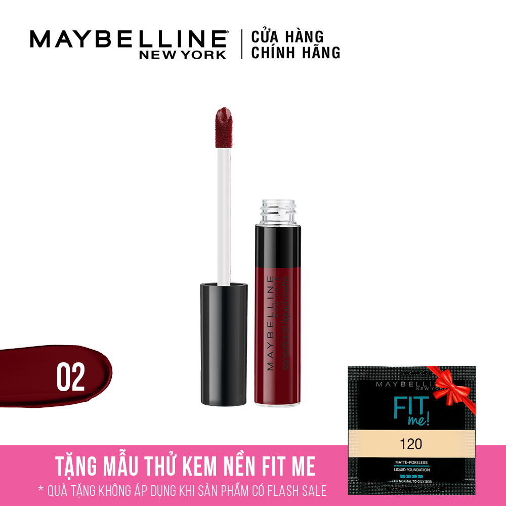 Son Kem Lì Nhẹ Môi Maybelline New York Sensational Liquid Matte 7ml