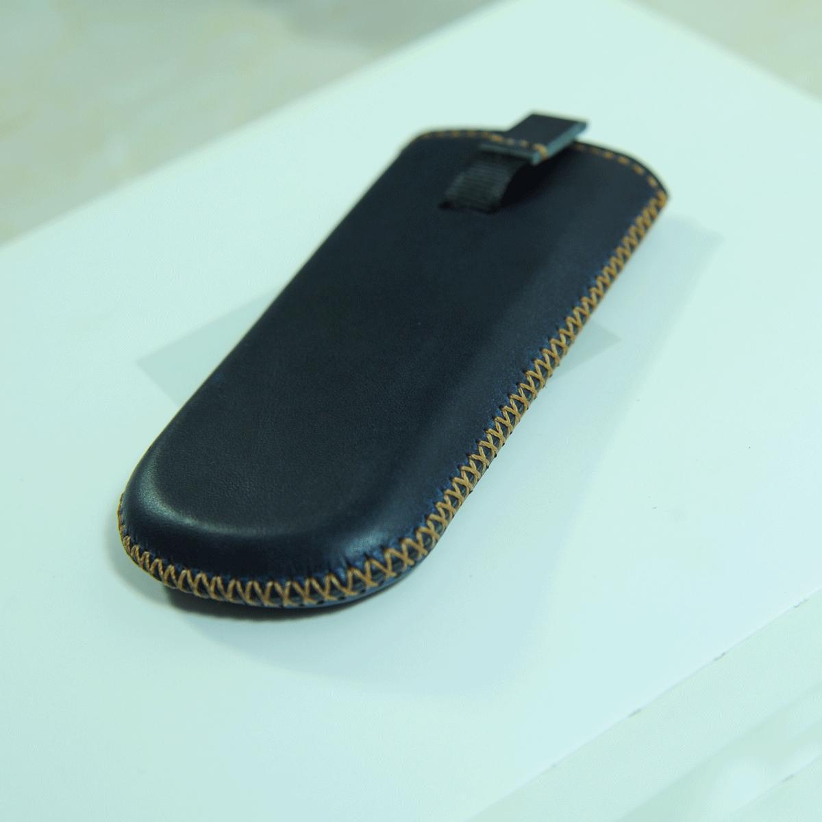 Bao da sáp xanh handmade cho điện thoại Nokia 6700 8800 - Bao da Mino Crafts VI281