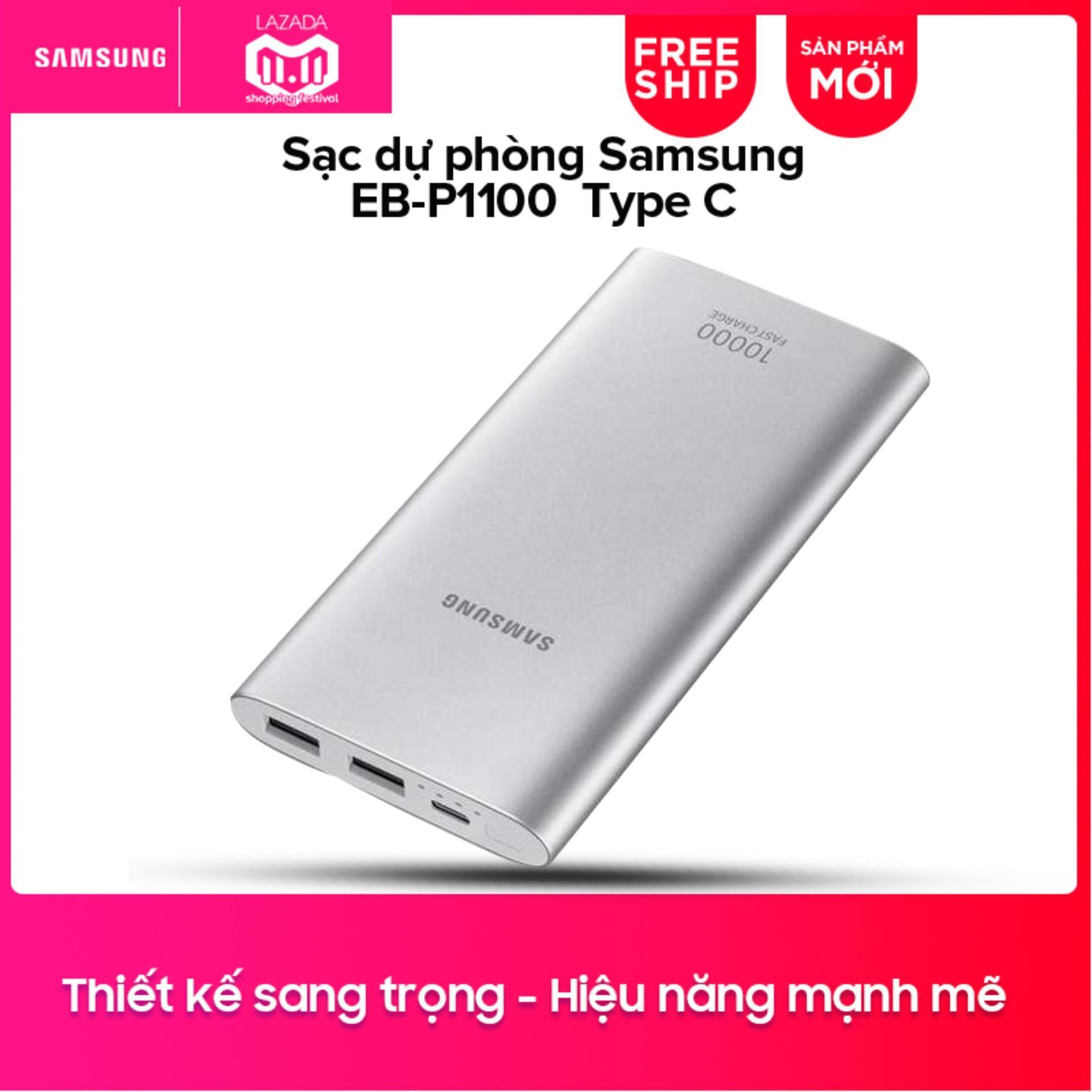 Pin sạc dự phòng Samsung EB-P1100 10.000mAh Type-C (Bạc)