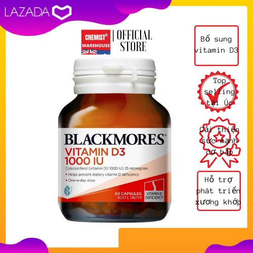 [Hàng Chuẩn ÚC] Blackmores Vitamin D3 1000IU - Viên uống vitamin D3 60 viên