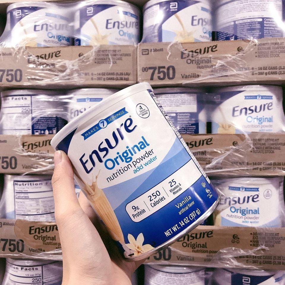 Sữa Ensure Chính Hãnh Mỹ hộp 397 gr,Sữa Ensure Mỹ 397g - Giá rẻ - Date xa 2023,Sữa bột Ensure 397g của Mỹ,Sữa Ensure Mỹ xách tay chính hãng mẫu mới 397gr ,Sữa Ensure Mỹ cho người già