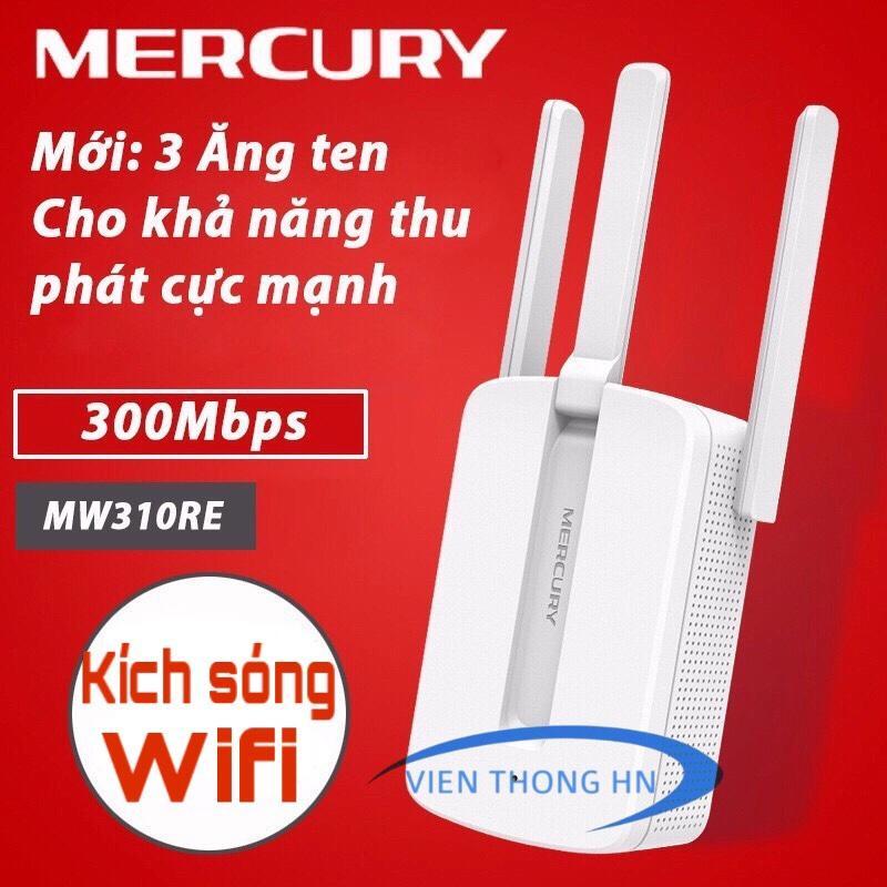 BỘ KÍCH SÓNG WIFI MERCURY 3 RÂU MW310RE - Tăng Sóng WifiKích Wifi  Bộ Tiếp Nối Sóng Wi-Fi