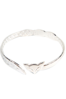 Fancyqube Women'S Cute Fox Bangle Bracelet Silver (Intl)