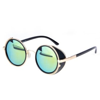 Vintage Round Sunglasses (Light Blue)