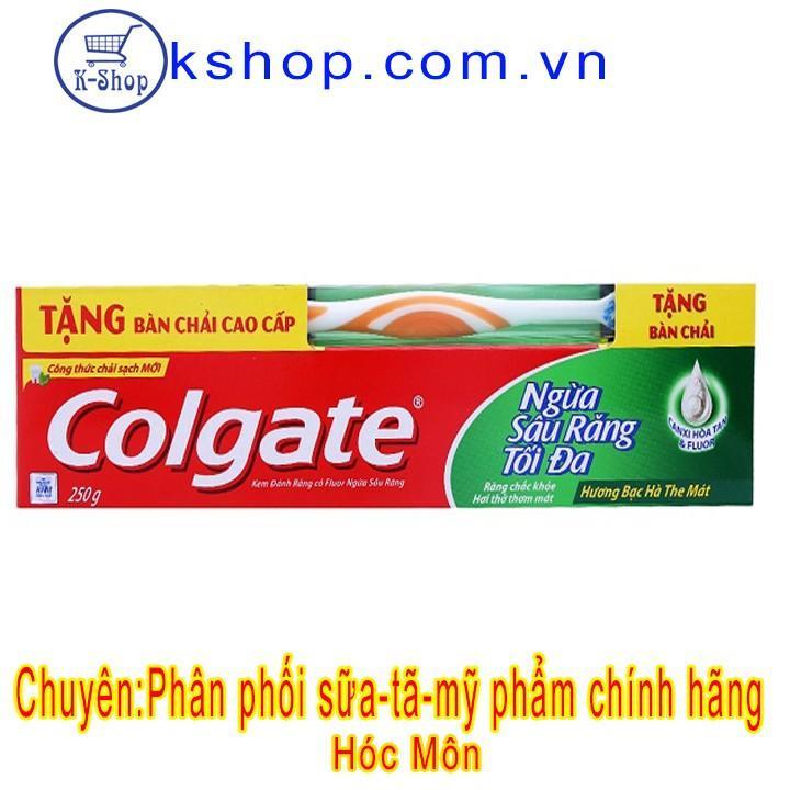 Kem Đánh Răng Colgate Ngừa Sâu Răng Tối Đa 250g - Tặng Bàn Chải