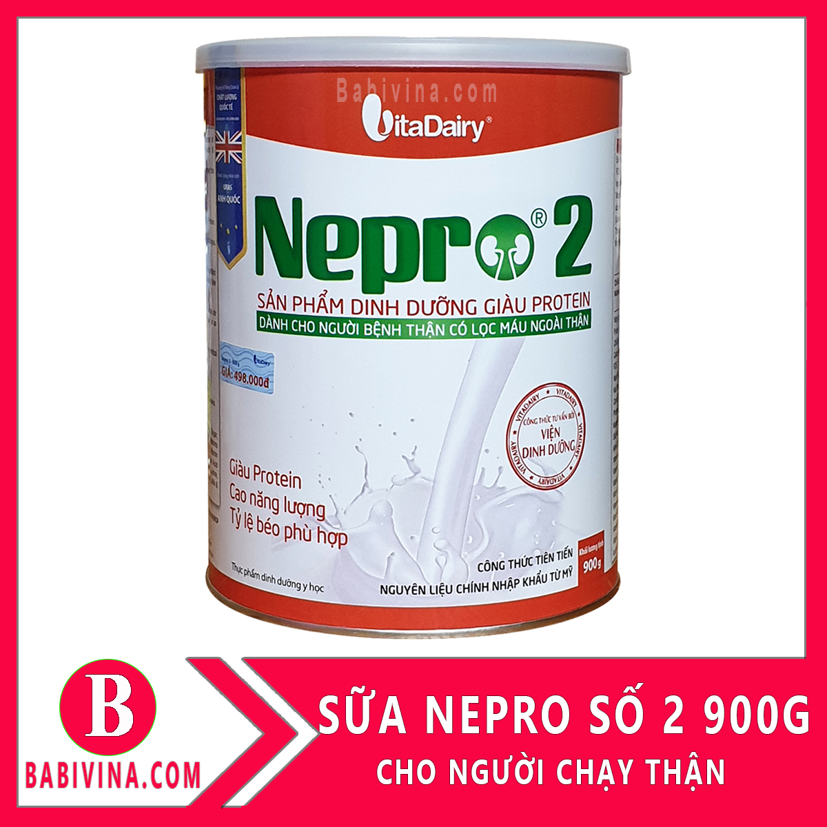 Sữa Thận Nepro 2 900g Dành Cho Bệnh Nhân Có Lọc Máu Ngoài Thận, Chạy Thận