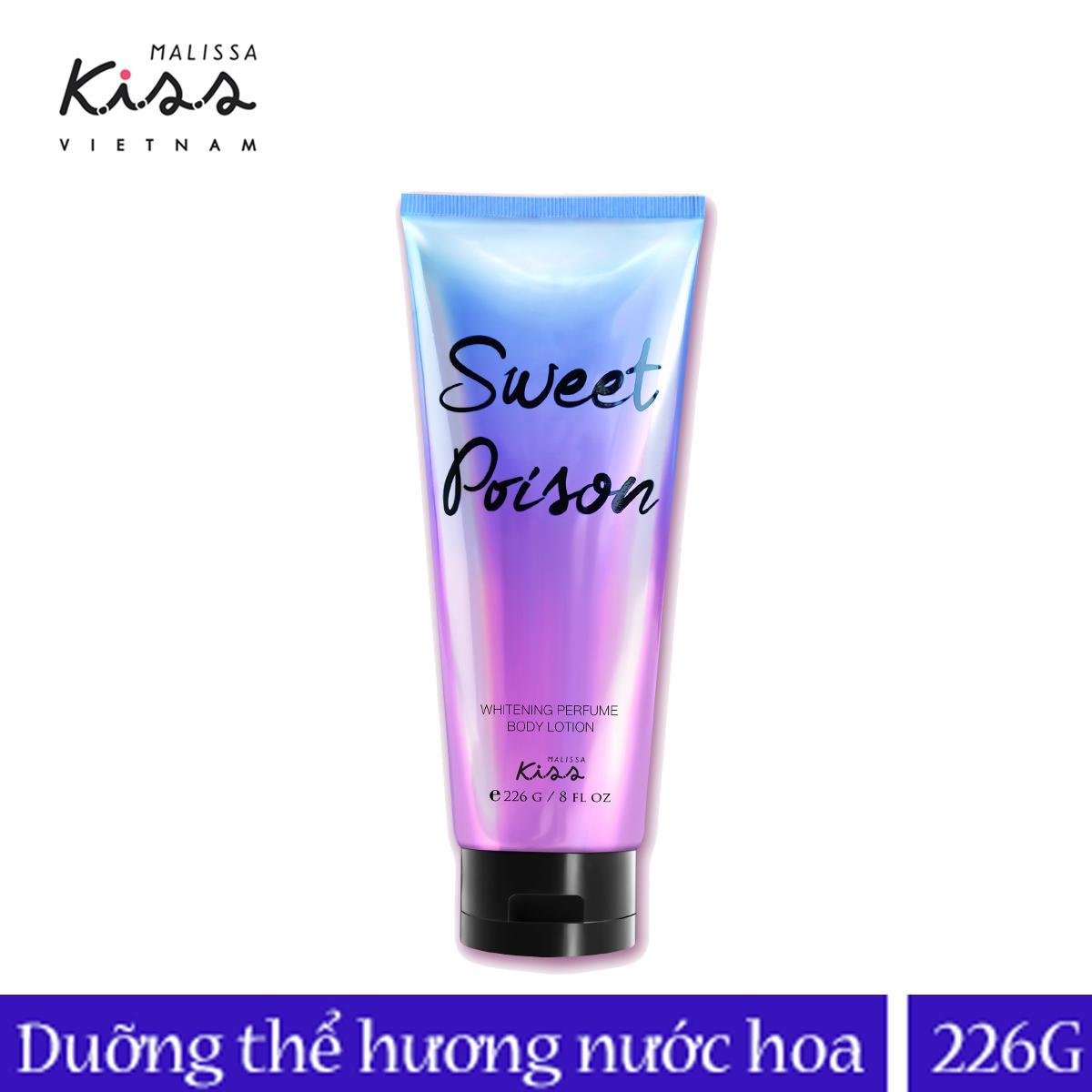 Sữa dưỡng trắng da toàn thân Malissa Kiss hương nước hoa Sweet Poison 226ml