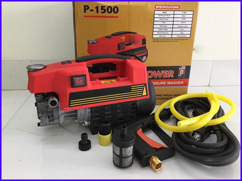 Máy rửa xe gia đình may rua xe công suất mạnh 1500W may rua xe mi ni máy rửa xe áp lực cao máy xịt rữa xe dễ dàng sử dụng ống bơm nước 8m vòi bơm áp lực cao