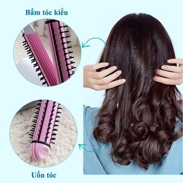 Máy duỗi tóc - máy bấm tóc - máy uốn tóc xù tạo kiểu tóc 3 chức năng cao cấp : duỗi uốn bấm tạo kiểu tóc - 3 chức năng trong 1