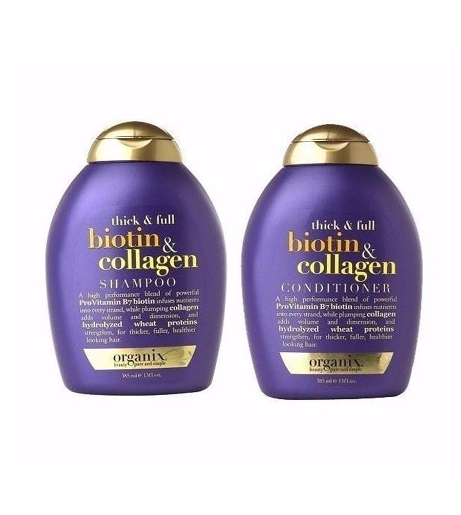 [HCM][COMBO Gội + Xả biotin] [HÀNG VỀ GIÁ SALE] Dầu Gội Chống Rụng Tóc Biotin Collagen - HÀNG MỸ-DẦU GỘI MỌC TÓC THICK FULL + BIOTIN COLLAGEN SHAMPOO OGX - CHÍNH HÃNG - Others - dầu gội biotin collagen-biotin collagen [Others]