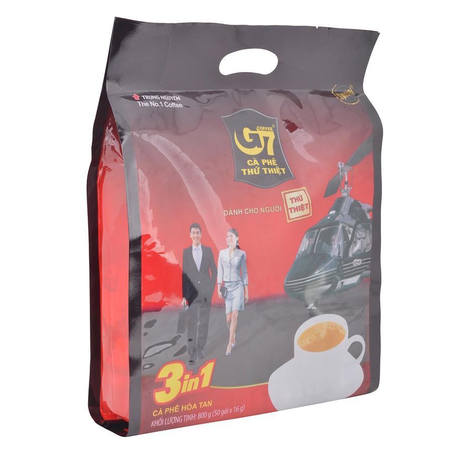 Cà phê sữa G7 3in1 Trung Nguyên (50 Gói) có tem xác thực  - cafe g7