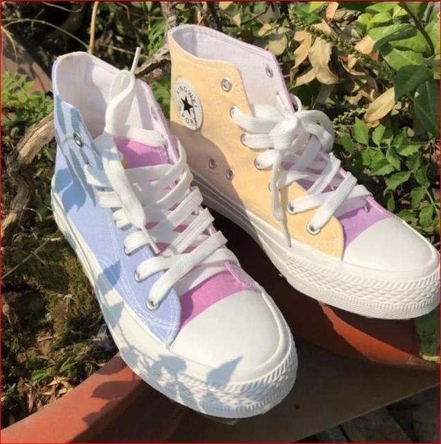 giày thể thao nữ cao cổ đổi màu khi ra nắng giá siêu sốc