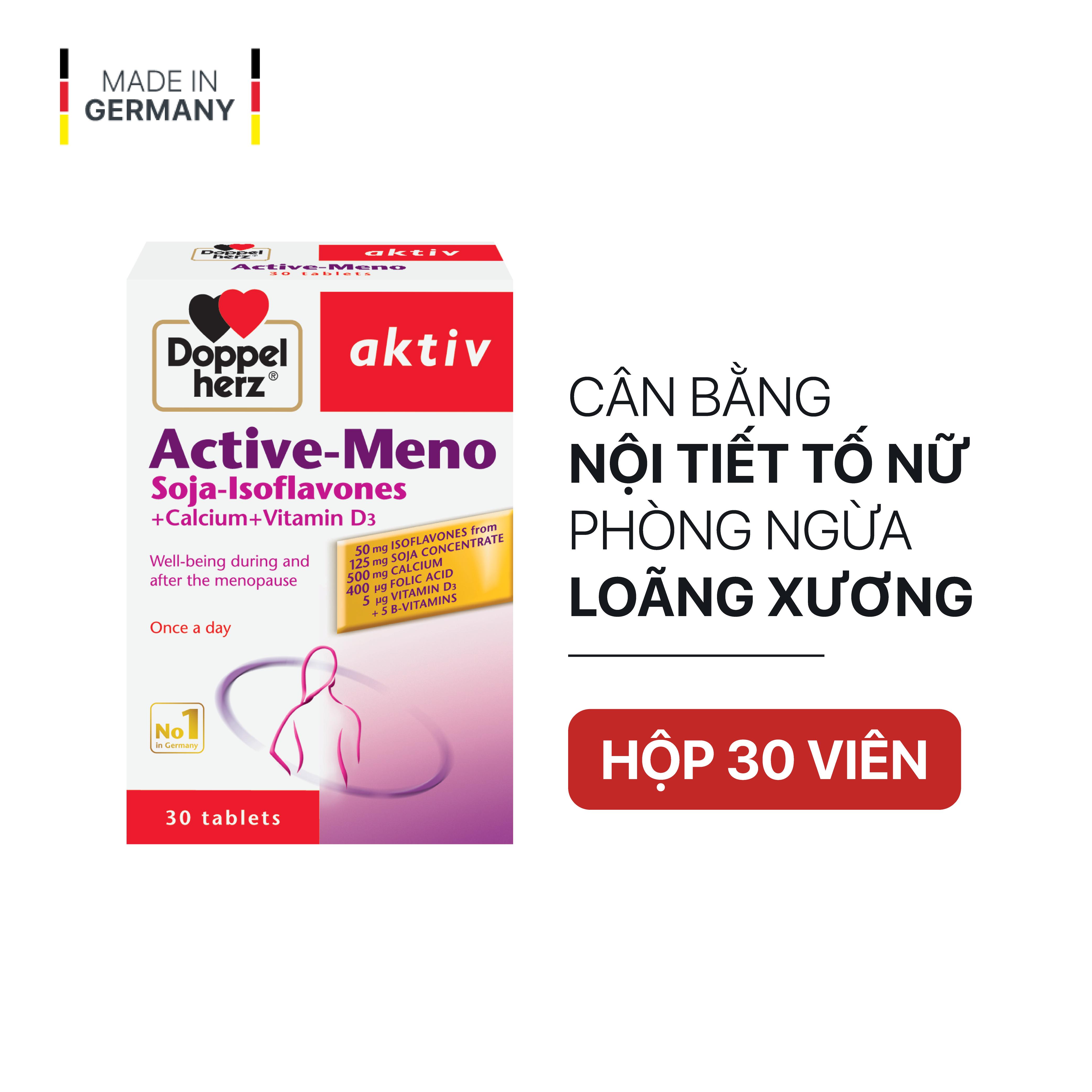 Viên uống cân bằng nội tiết tố nữ Doppelherz Aktiv Active Meno (Hộp 30 viên)