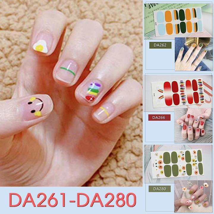 Sticker dán trang trí móng tay họa tiết dễ thương mã DA261 - DA280
