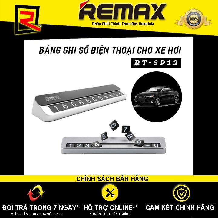 Bảng ghi số điện thoại cho xe hơi bằng kim loại Remax RT-SP12 - Hãng Phân Phối Chính Thức