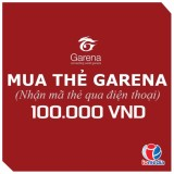 Mã thẻ Game Garena 100.000 - nhận mã qua SMS - siêu nhanh