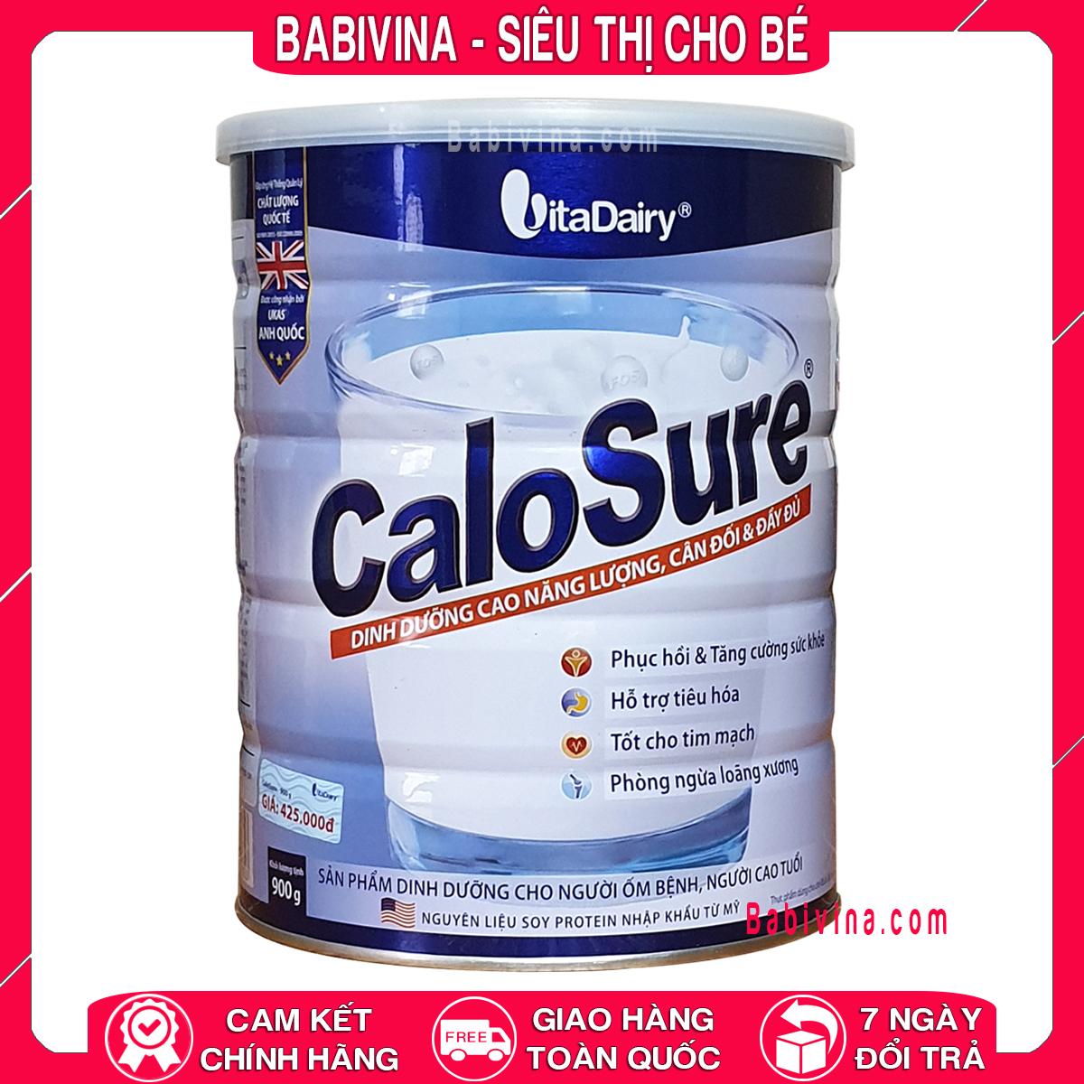 Sữa Calosure 900g Dành Cho Người cao tuổi Mẫu Mới Date Mới Nhất