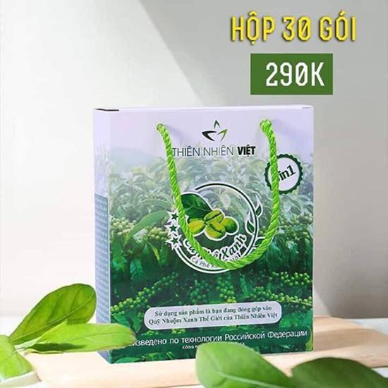 SỈ 3 Hộp cà phê xanh kháng mỡ THIÊN NHIÊN VIỆT 30 GÓI