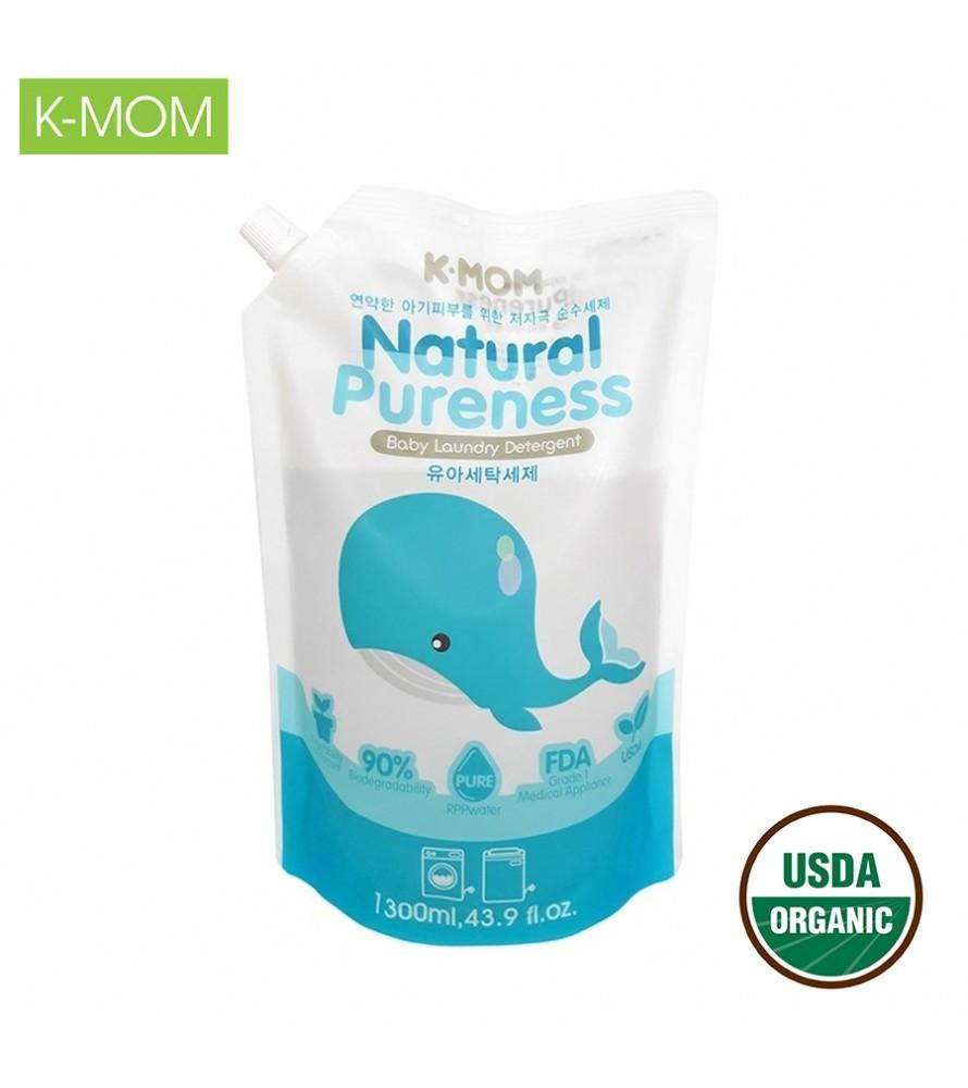 Nước giặt đồ sơ sinh hữu cơ K-Mom (dạng túi 1300ml)