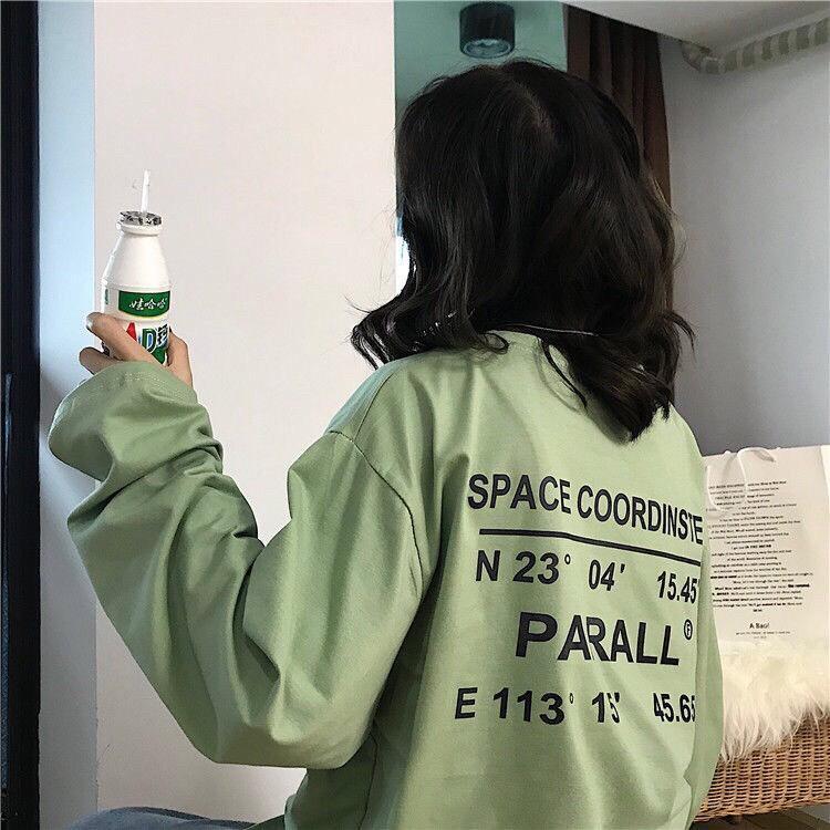 Áo phông áo thun nam nữ form rộng tay DÀI P A RALL Từ 50-70kg