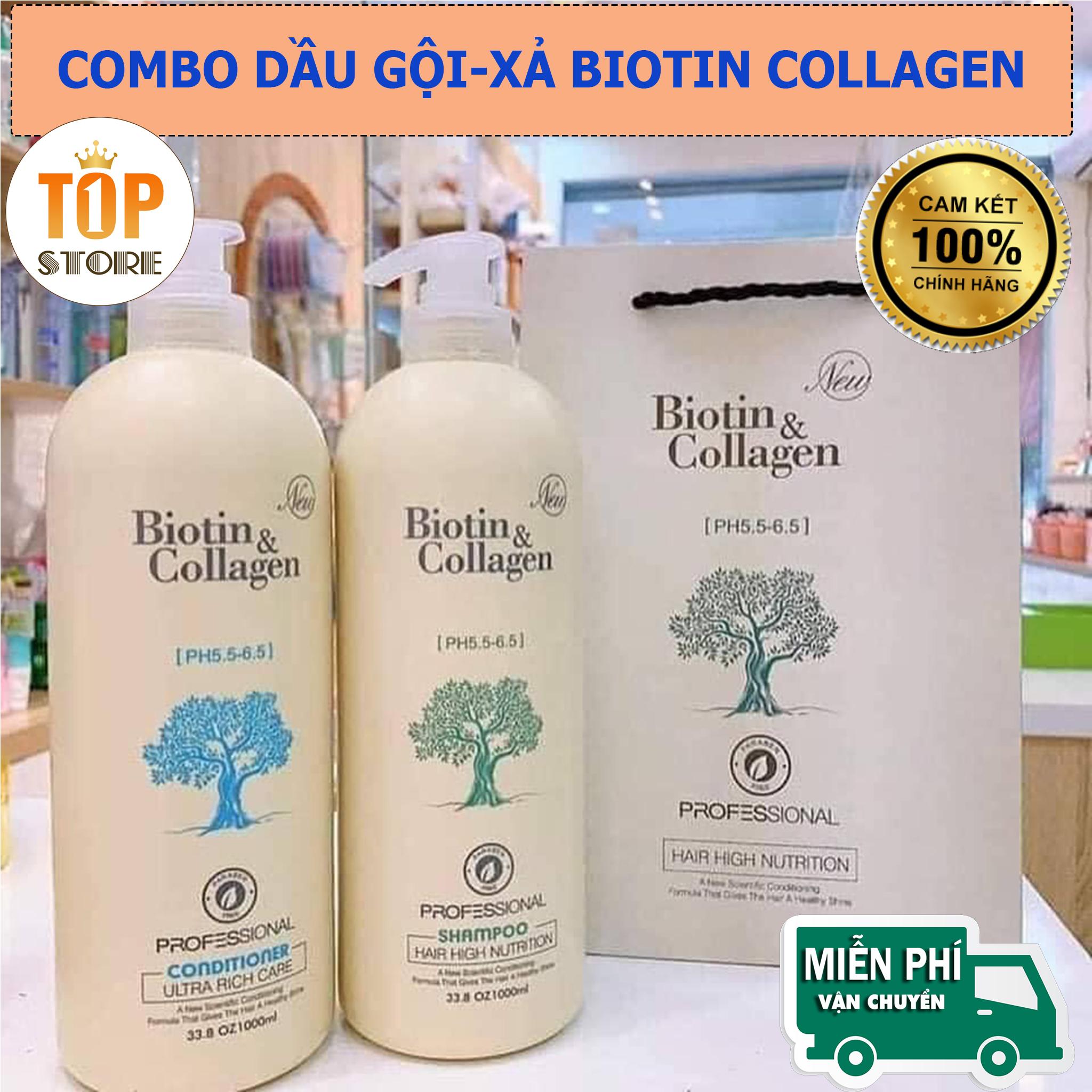 [BIOTIN] Gội Xả Biotin Cặp Dầu Gội Xả Biotin Collagen Trắng Dầu Gội và xả Biotin Collagen phục hồi và nuôi dưỡng sợi tóc cho mái tóc dày bồng bềnh bóng mượt hơn từ sâu bên trong.