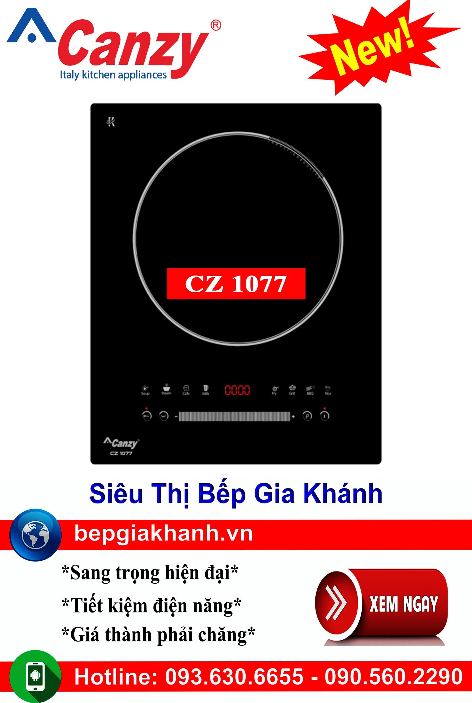 [HCM]Bếp từ đơn cao cấp Canzy CZ 1077 nhập khẩu chính hãng bếp từ bếp điện từ bếp từ đôi bếp điện từ đôi bếp từ giá rẻ bếp điện từ giá rẻ bếp từ đơn bep tu don bep tu
